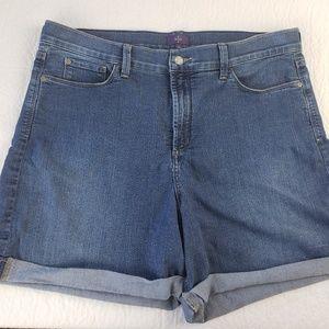 NYDJ 16 (38x6 Actual) Avery High Rise Denim Shorts
